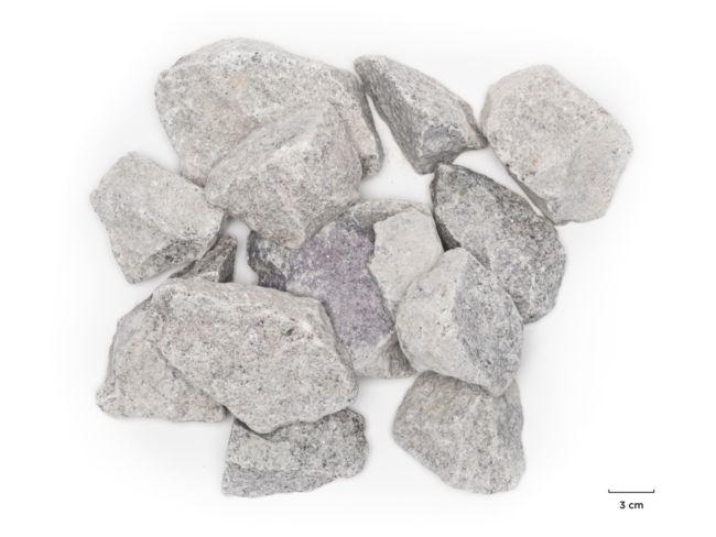 Pierre à gabion 60-120 granit gris clair